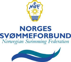 Norges Svømmeforbund logo. Her brukt til Vill i vann camp, en sommerleir for ungdom