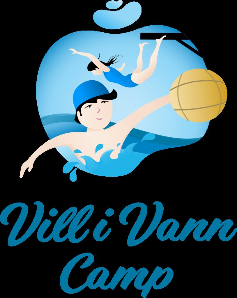 Vill i vann Camp Logo. En sommerleir for ungdom